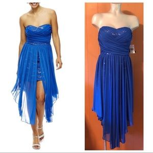 NWOT Royal Blue Strapless Dress